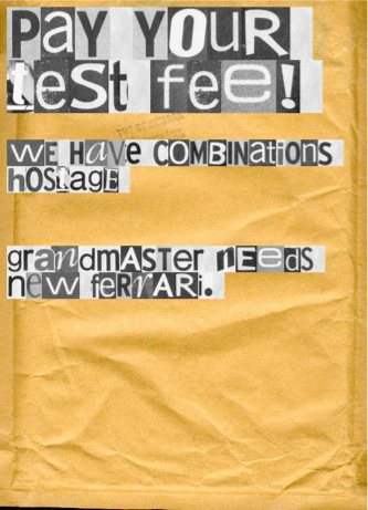 test fee note